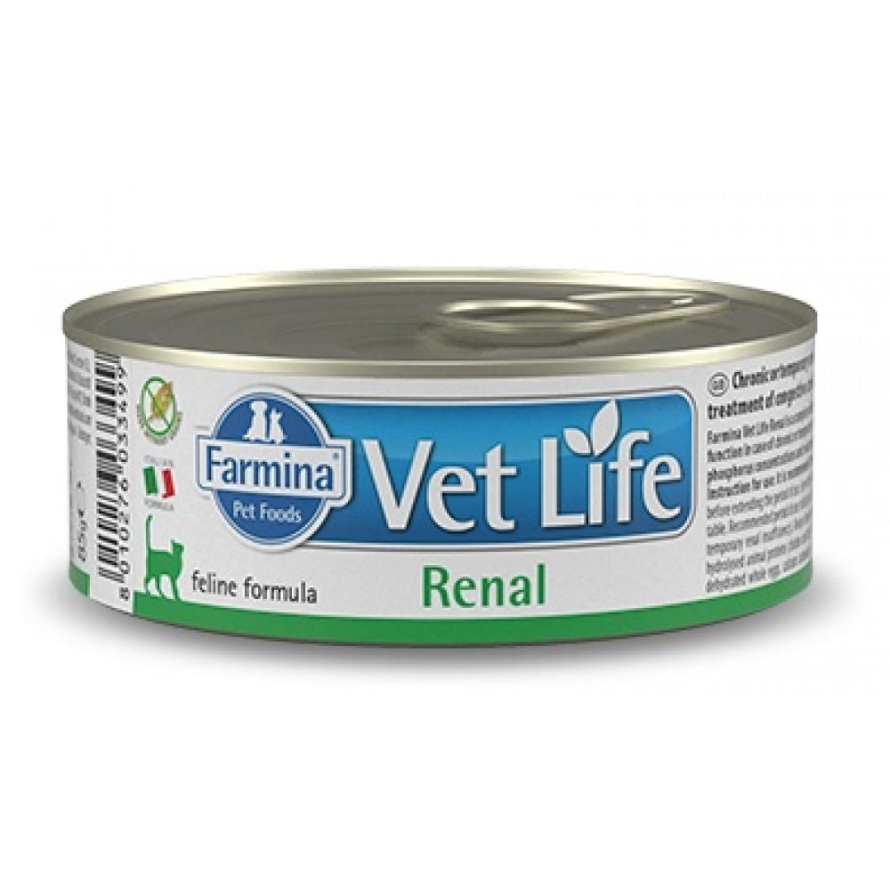 Farmina Vet Life Renal Prescription Feline 貓專用腎臟配方濕糧 85g x 12罐
