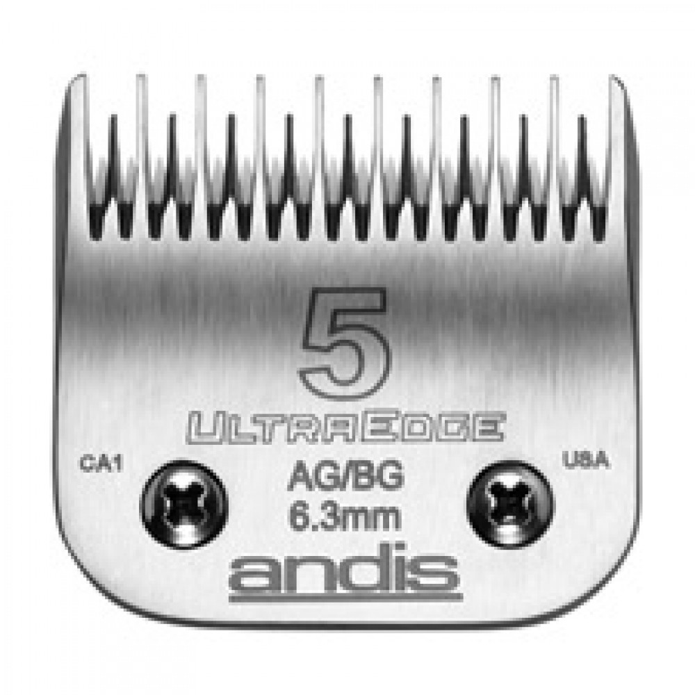 """Andis UltraEdge Size 5 Skip Tooth 1/4""""-6.3mm 電剪刀頭"""