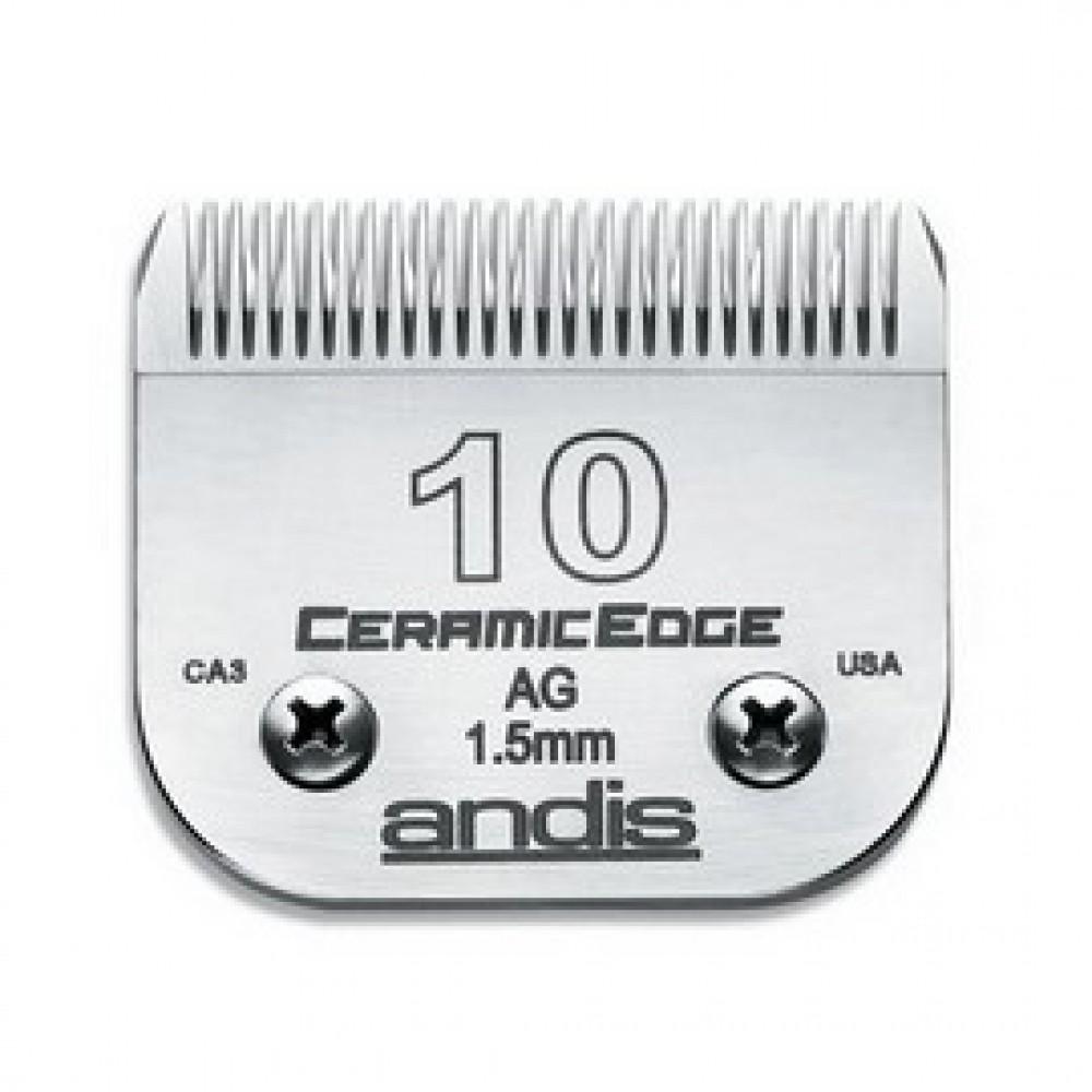 """Andis CeramicEdge Size 10 Medium Cut 1/16""""-1.5mm 陶瓷刀頭"""
